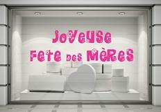 Stickers vitrines f te des m res 29 mai 2016 paris graphicarts - Vitrine fete des meres ...