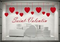 Stickers vitrine promo soldes d marque destockage f tes - Deco st valentin vitrine ...